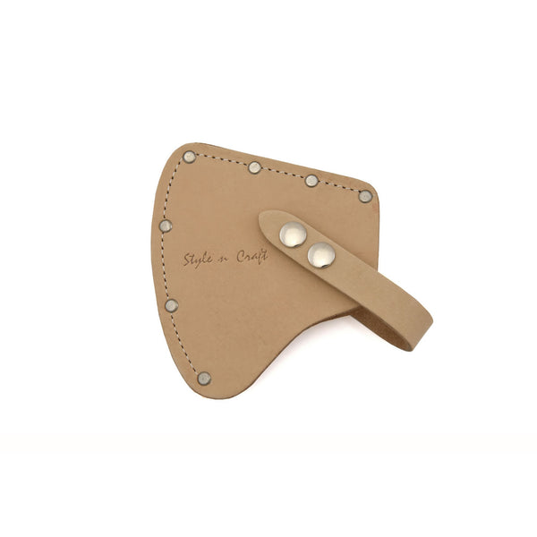Style n Craft 94027 - Camper's Axe Sheath / Axe Cover in Heavy Top Grain Leather in Natural Color - Image 2
