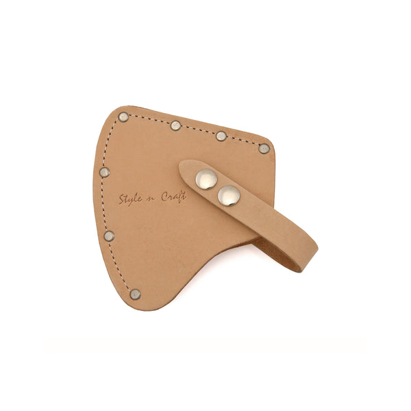 Style n Craft 94027 - Camper's Axe Sheath / Axe Cover in Heavy Top Grain Leather in Natural Color