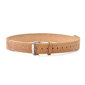 Style n Craft 94054L - 2 Inch Wide Work Belt - Extra Long - in Embossed Heavy Top Grain Leather - Front Open View