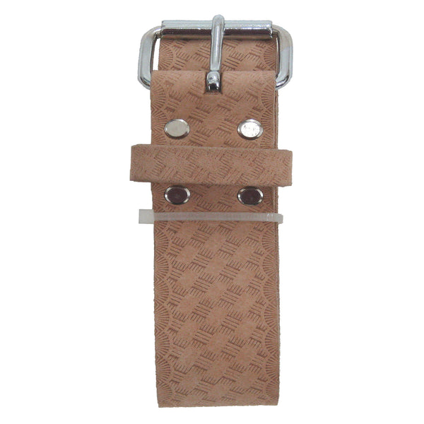 Style n Craft 94054L - 2 Inch Wide Work Belt - Extra Long - in Embossed Heavy Top Grain Leather - Folded View