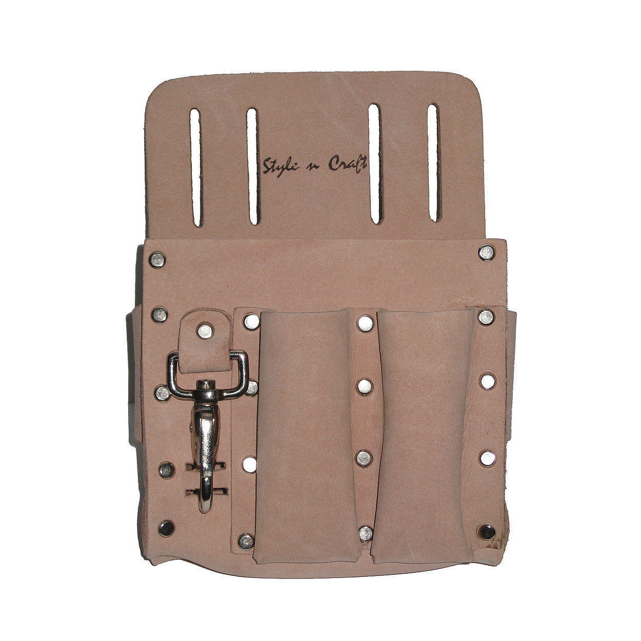 5 Pocket Electrician's Tool Pouch in Heavy Top Grain Leather