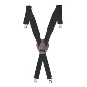 Style n Craft 95013 - 2 Inch Wide Padded Work Suspenders with Clips in Black. Versatile Double Adjustment