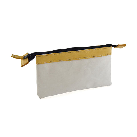 97524 - Multi Purpose Zippered Bag in Canvas / Top Grain Leather Combination