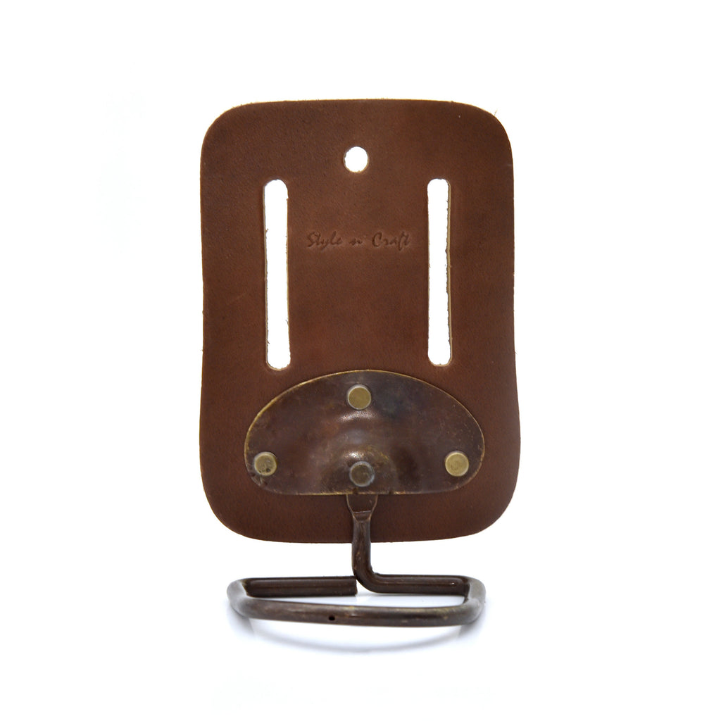 Style n Craft 98007 - Swivel Hammer Holder in Heavy Top Grain Leather in Dark Tan Color