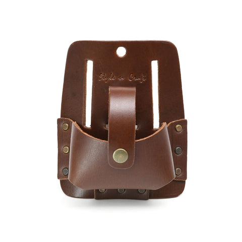 Style n Craft 98014 - Extra Large Tape Holder in Heavy Top Grain Leather in Dark Tan Color