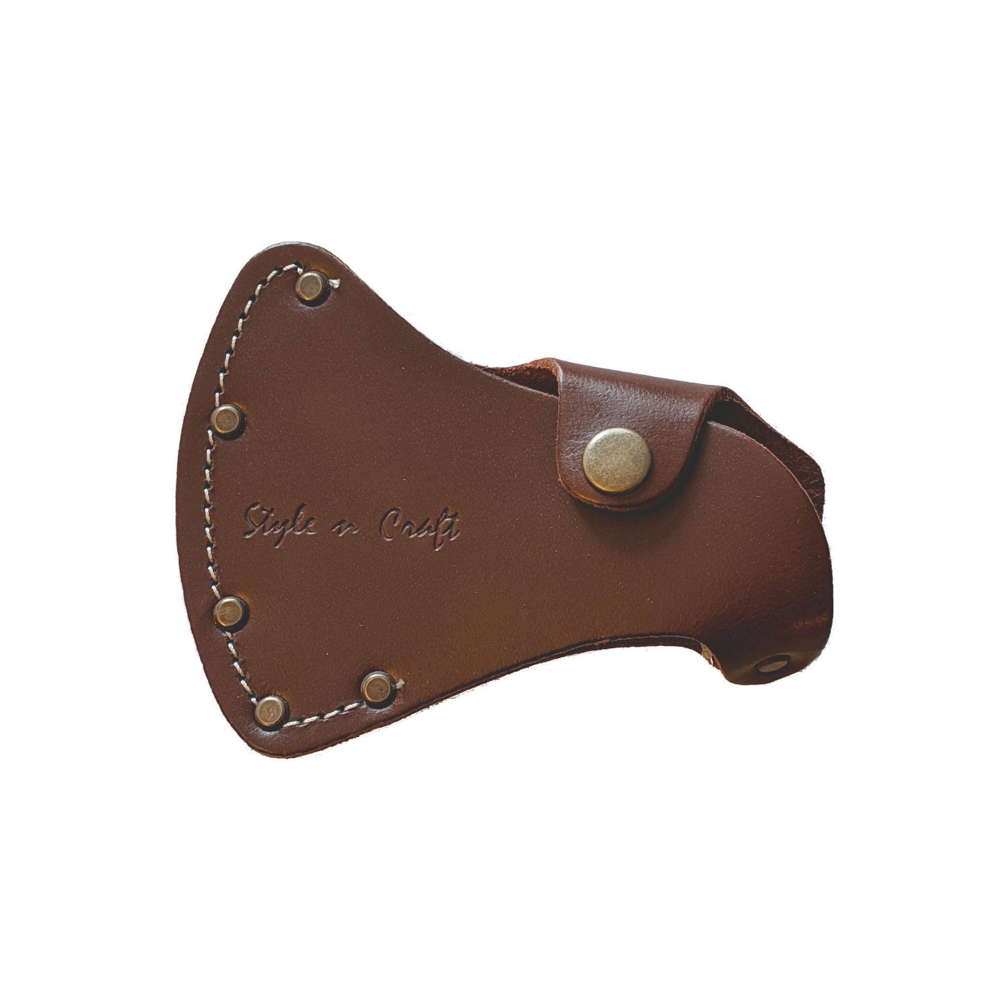 Style n Craft 98026 - Sportsman's Axe Sheath / Axe Cover in Heavy Top Grain Leather in Dark Tan Color