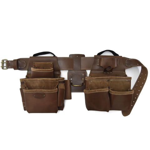 Style n Craft's 98434 - 4 Piece 17 Pocket Pro Framer's Combo in Top Grain Leather in Dark Tan Color