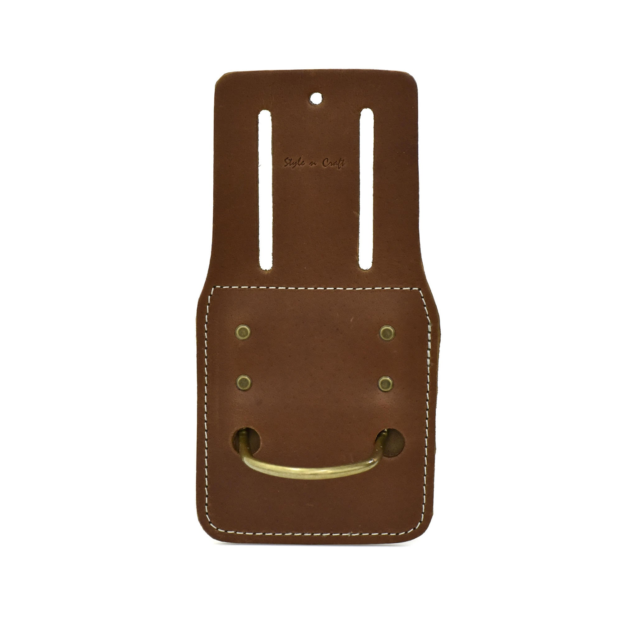 Style n Craft 98438 - Fixed Hammer / Hatchet Holder in Heavy Top Grain Leather in Dark Tan Color