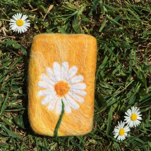 Daisy Felted Soap