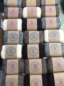 Geranium Felted Soap - Natural wool