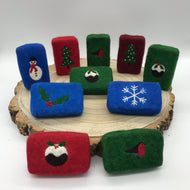 Festive Felted Soaps