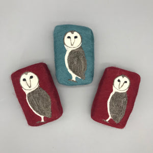 Owl Felted Soap