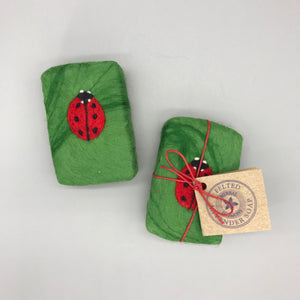 Ladybird Felted Soap