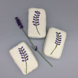 Lavender Flowers Felted Soap
