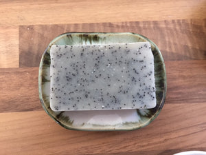 Ceramic Soap Dish - Green Edge