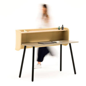 Allermuir Arc Desk with Screen & Shelf
