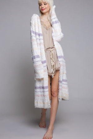 Stripe Berber Fleece Robe