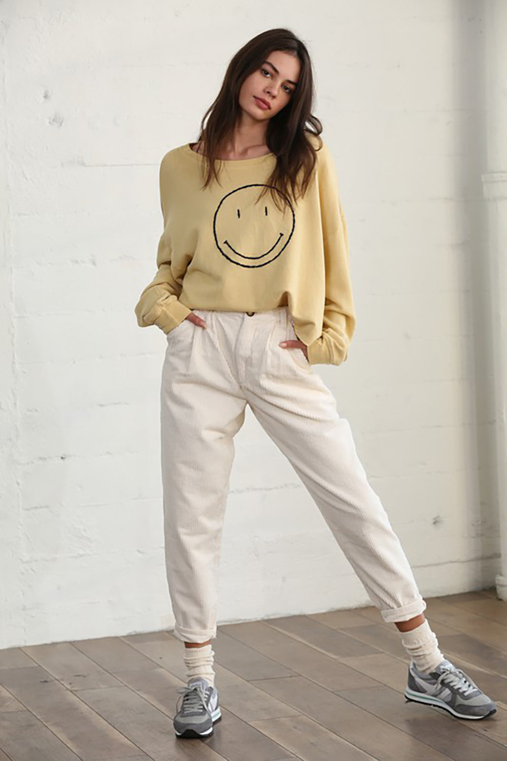 Super Smiley Pullover Yellow