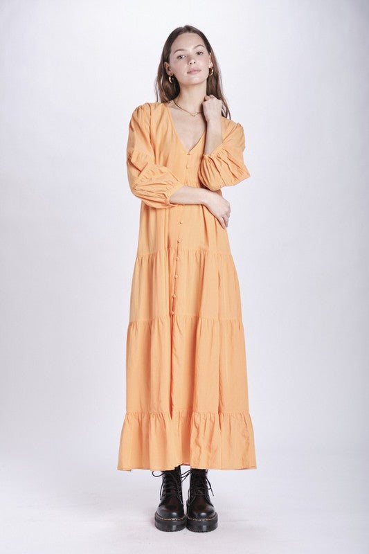 Robin Midi Dress Orange