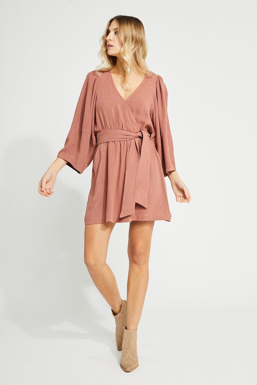 Cassis Wrap Dress