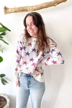 Shiloh Pinky Stars Pullover