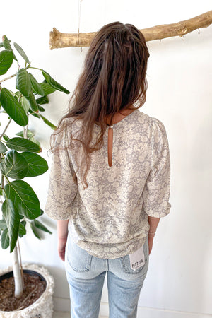 Winter Floral Blouse