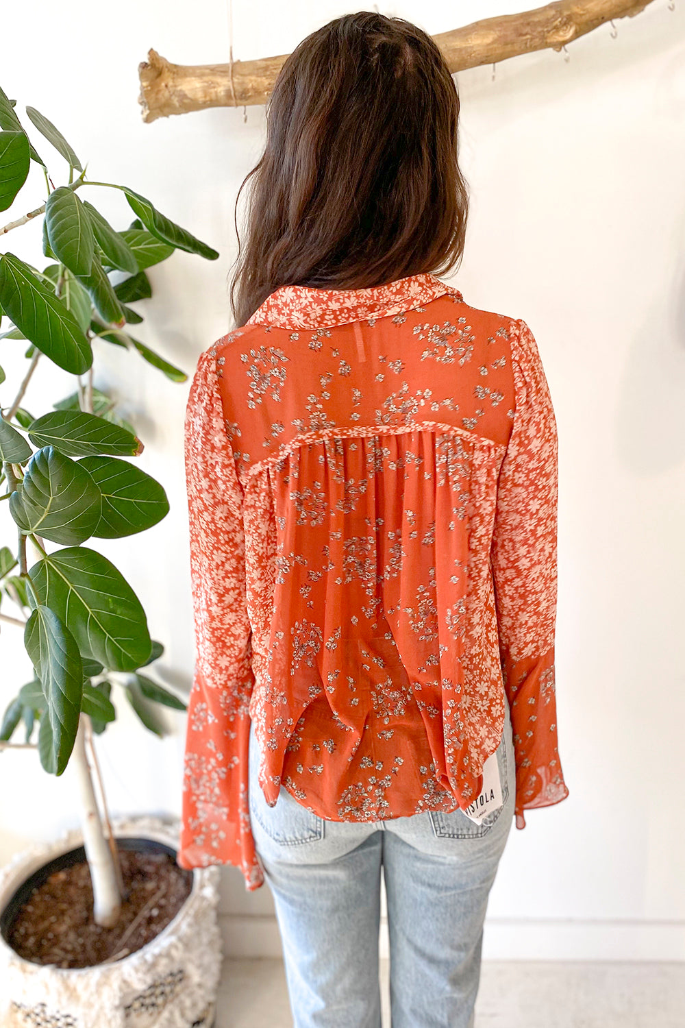 Serena Blouse Rust