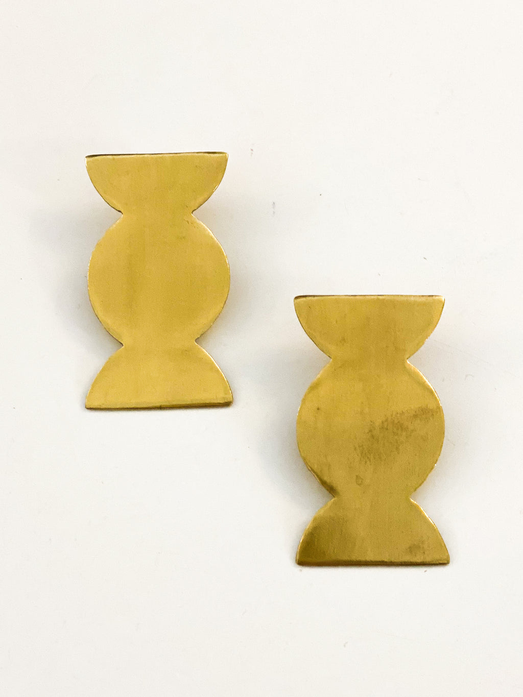 Brass Scalloped Earrings
