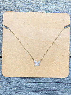 14K Mini Butterfly Necklace