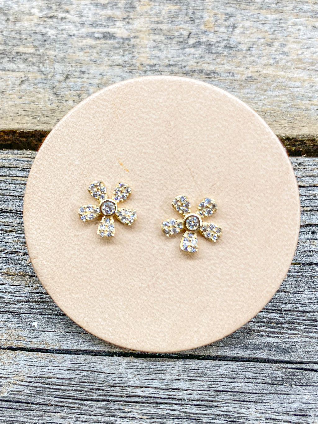 14k Diamond Daisy Studs