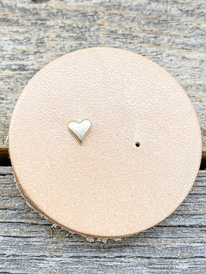 14k Tiny Single Stud Gold Heart
