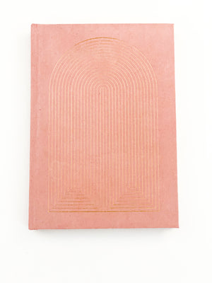 Dusty Pink Radiant Rainbow Journal