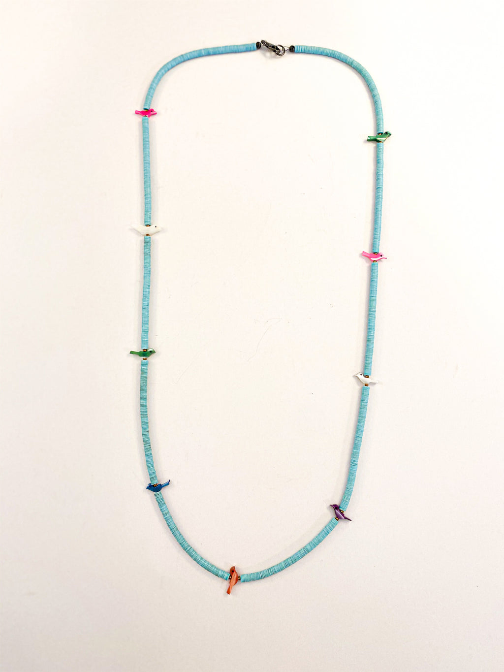 Bird Fetish Necklace Light Blue