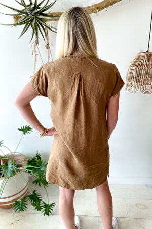 Oriana Linen Easy Tunic Dress