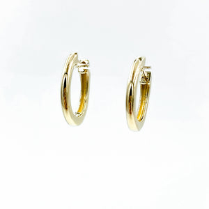 14k Small Solid Gold Huggies