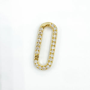 14k Diamond Fastener Yellow Gold