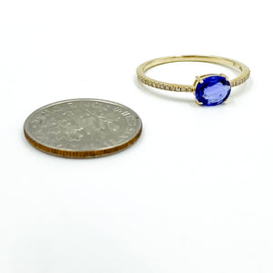14k Sapphire Stack Ring 7