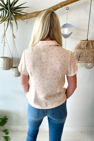 Blush Floral Button Up Shirt
