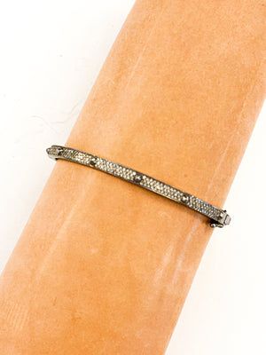 Sterling Silver Pave Diamond Spike Bracelet