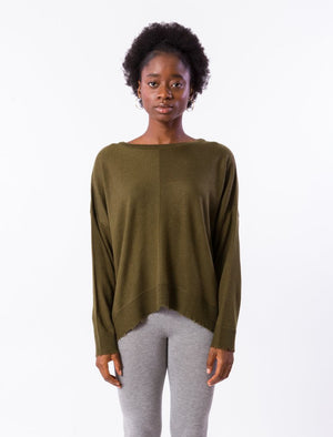 Army Olive Lawson Top