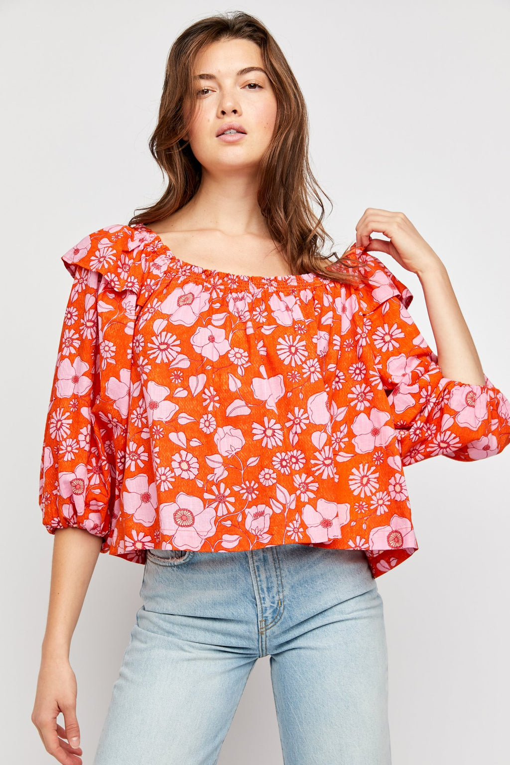 Miss Daisy Printed Top Heat Wave