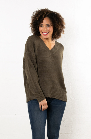 Foster Bat Wing Sweater Olive
