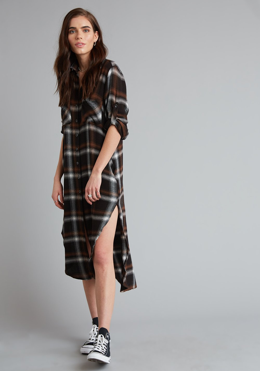 Cinnamon Spice Duster Dress