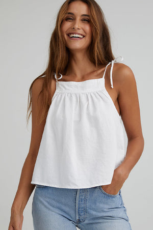 Tora Tie Shoulder Halter Top White