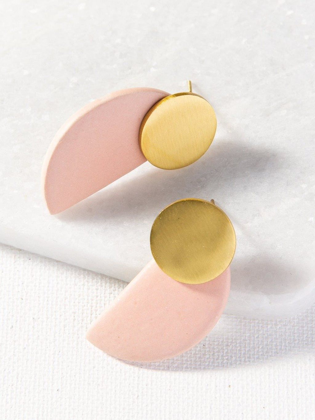 Blush Brass Earrings
