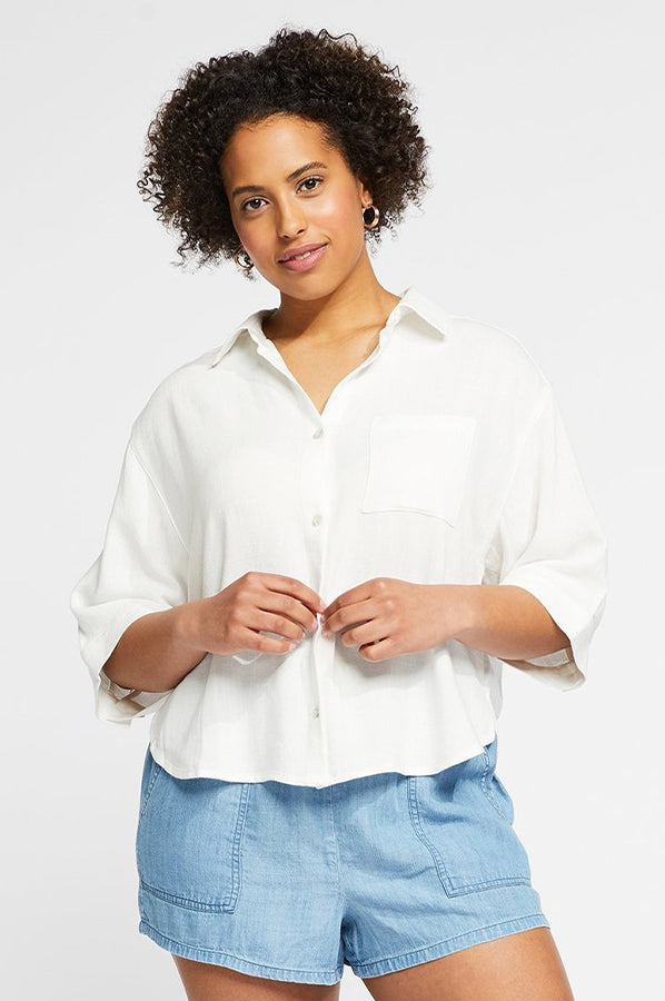 Cole Pocket Button Down White