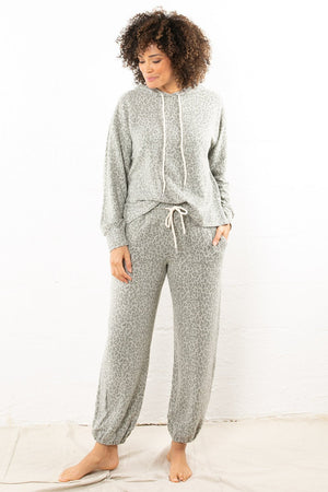 Charred Animal Print Jogger Grey
