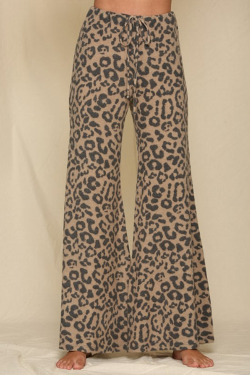 Leopard Flare Bottoms