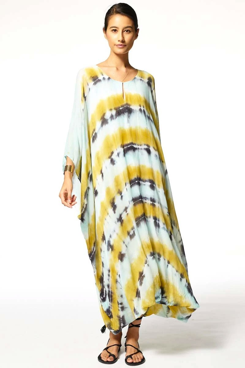 Cyrilla Dress Olive Tie Dye