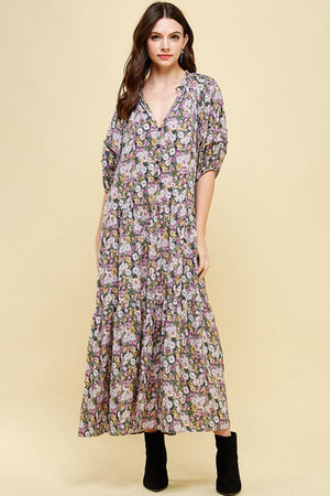 Eden Spring Floral Dress Multi